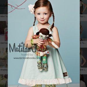 Matilda Jane Girls Mint Tulip Top  NWT